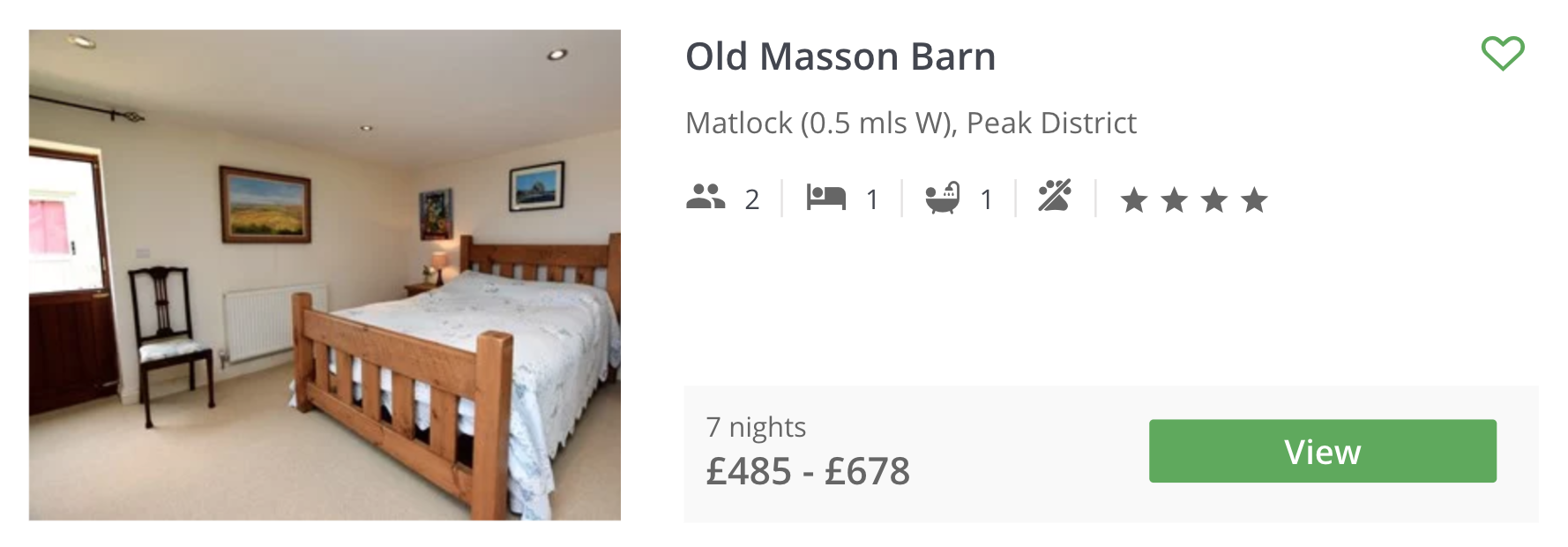 PEAK DISTRICT COTTAGE GUIDE - OLD MASSON BARN MATLOCK